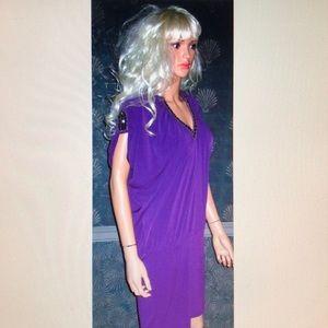 Victoria's Secret Purple Beaded Dress S NEW!
